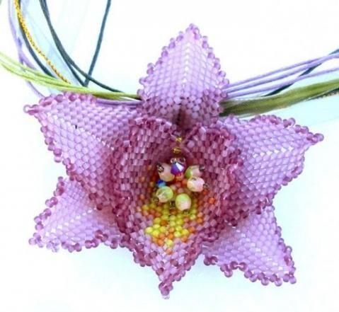 Orhidee din margele. Master-class: simplu