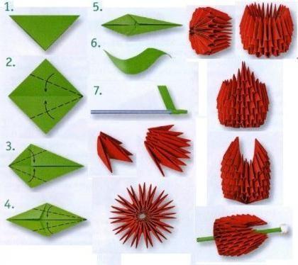 Modă lalele origami
