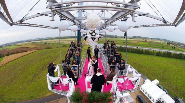 Nunta originală și neobișnuită: fotografie