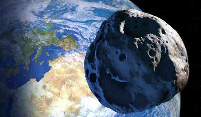 asteroidul cădea la pământ