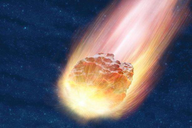 căderea asteroidului la sol în februarie
