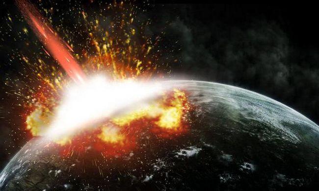 consecințele căderii asteroidului pe teren