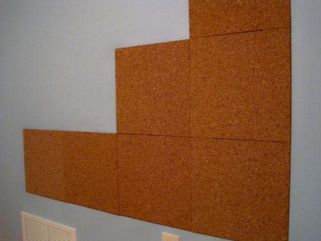 утепление стен изнутри пробковыми панелями