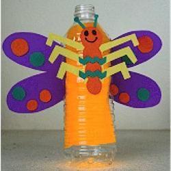 meșteșuguri din sticle de plastic albine
