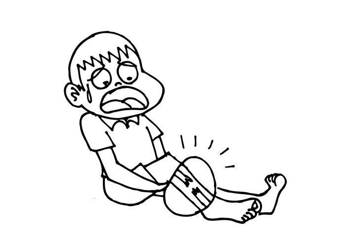 fractura de ghips de picior