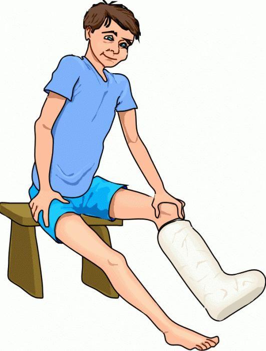 semne de fractură a piciorului