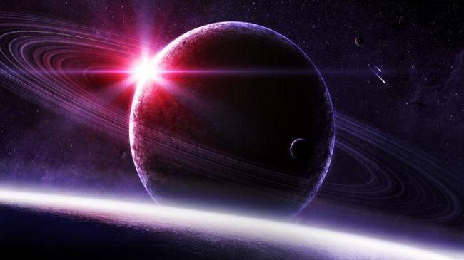 o planetă înconjurată de inele