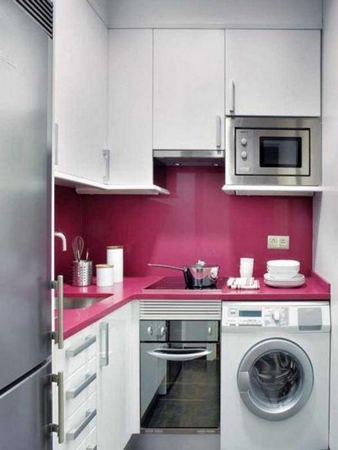 design interior de bucătărie în Hrușciov
