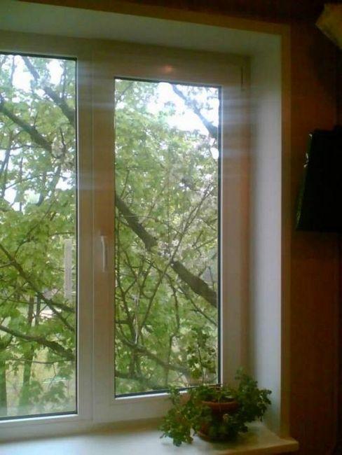 instalarea de pante din ferestre din plastic