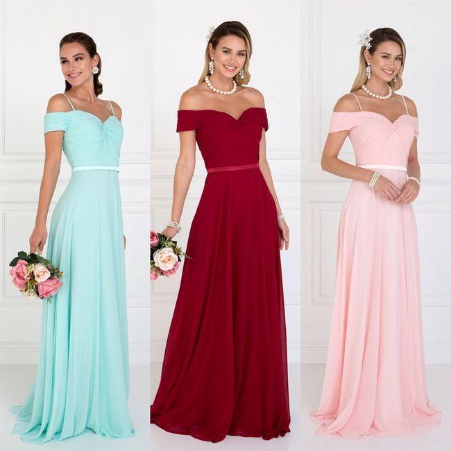 Rochii pentru domnișoarele de onoare: stiluri foto în diferite culori