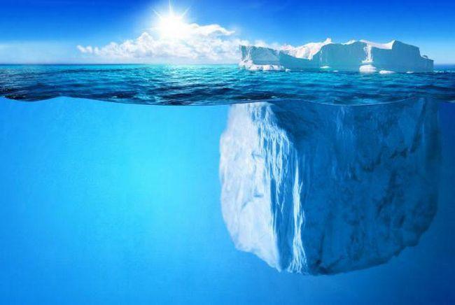 de ce gheața nu se scufunda în apă