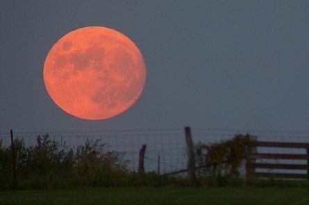 de ce luna este rosie si mare