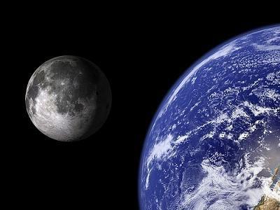 de ce luna este întoarsă spre sol de o parte