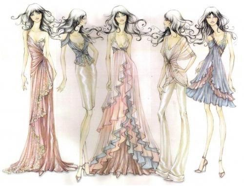 Este timpul să înveți cum schițează rochiile