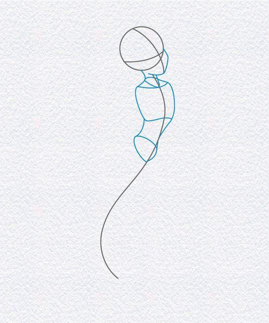 desenul micului sirenă pentru copii