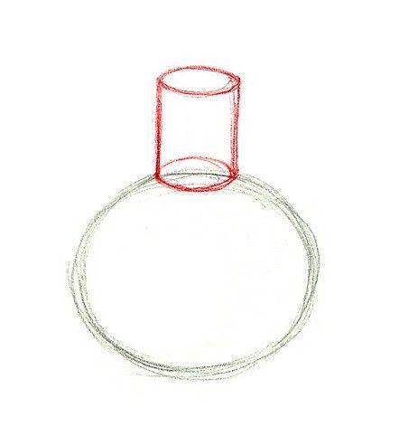 Pas cu pas, învățăm cum să desenezi o vază