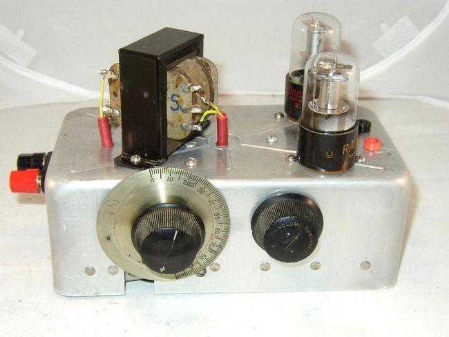 Receptorul superheterodyne pentru lămpi