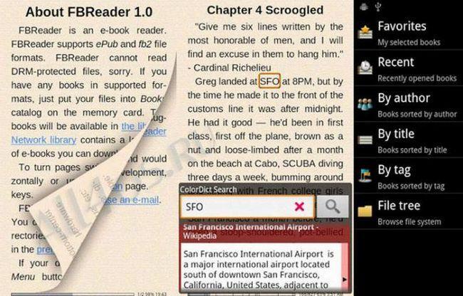 e-book reader pentru Android