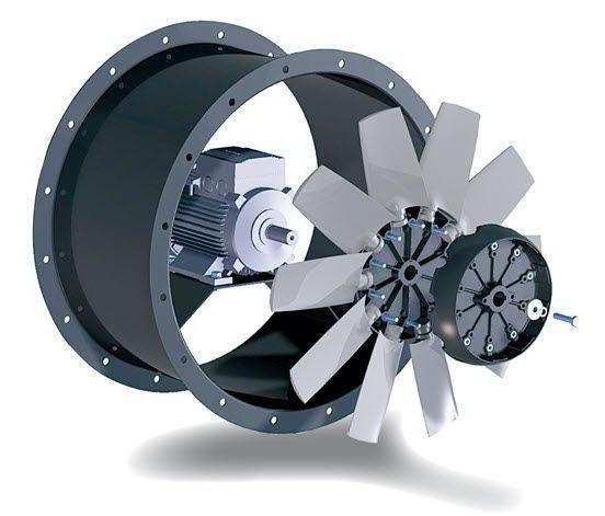 Ventilatoare axiale, industriale