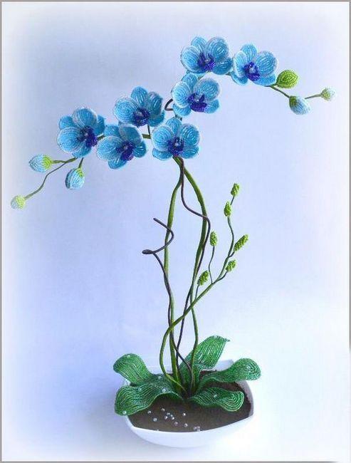 albastru orhidee de margele