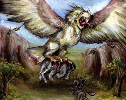 Bird Rukh - monstrul înaripat al antichității