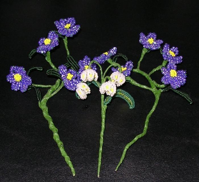 model de margele de flori