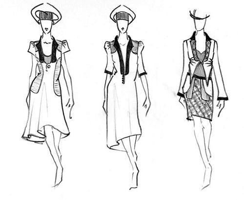 Luați în considerare modul de a desena o rochie