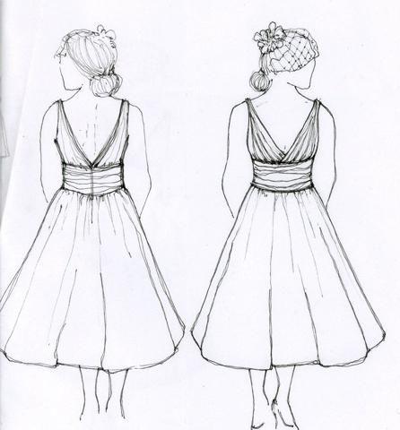 cum să atragă o rochie