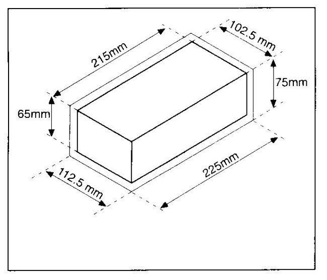 dimensiunea standard a cărămizilor