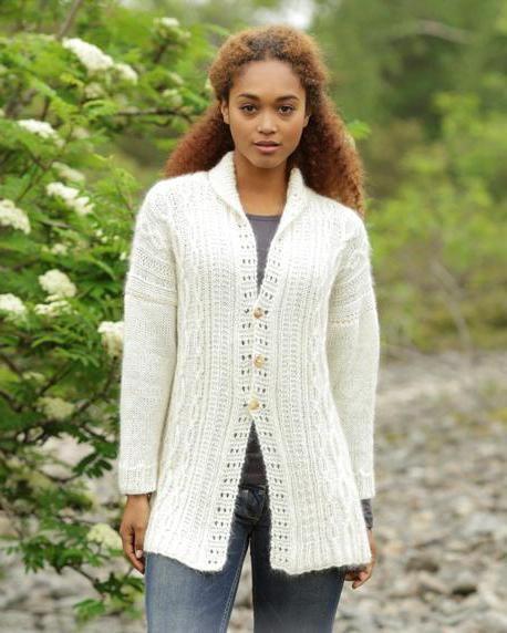 tricot cardigan cu ace de tricotat pentru femei cu descriere