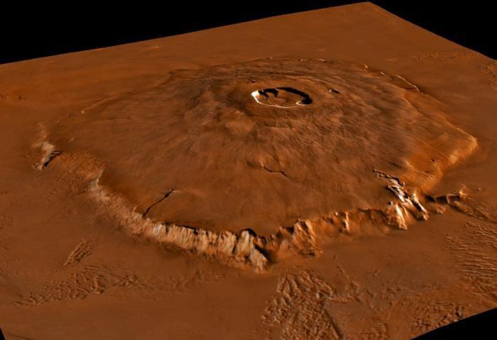 care este numele celui mai înalt munte din sistemul solar