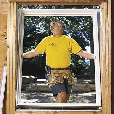 ferestre din plastic în casa casei