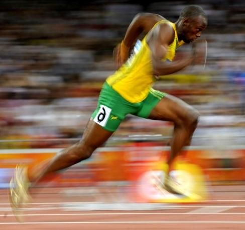 Cea mai rapidă persoană din lume este Usain Bolt