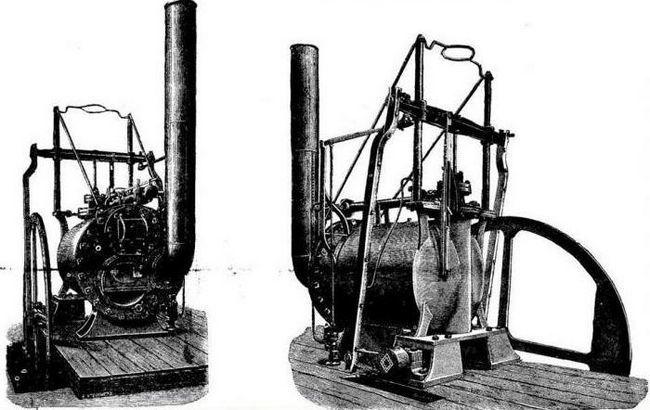 Первый в мире паровоз