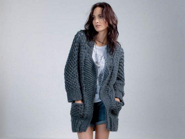 tricotat cardigane de iarnă cu ace de tricotat pentru femei