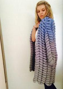 chinchilla cardigan cu ace de tricotat