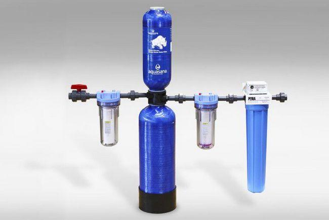 sistemul de purificare a apei într-o casă privată