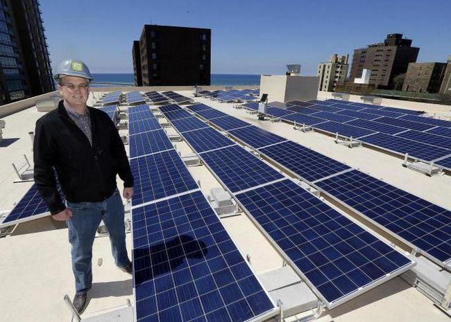 установка солнечных батарей в квартире