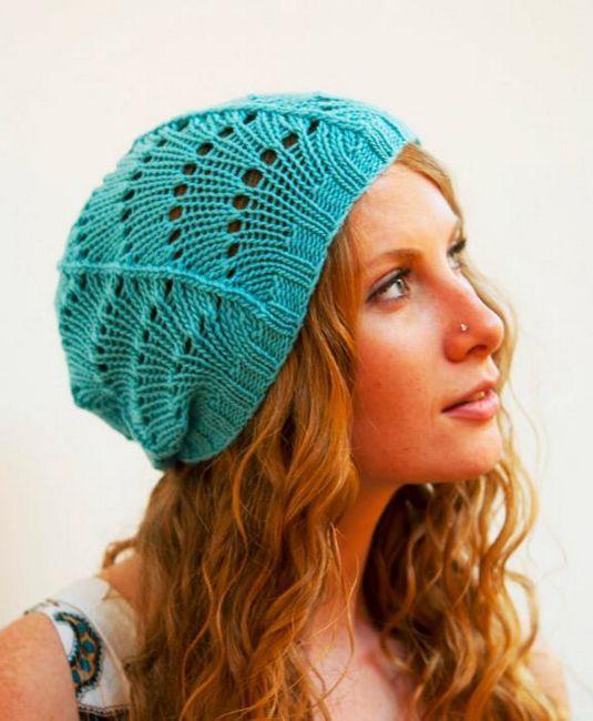 tricotat pălării pentru femei cu ace de tricotat