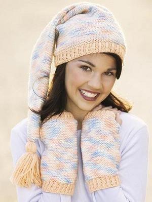 tricotat cu o pălărie de iarnă