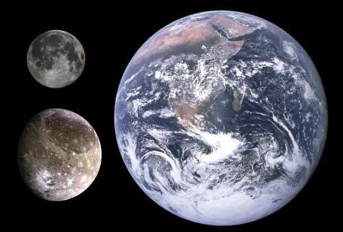 Satelitul Ganymede al lui Jupiter