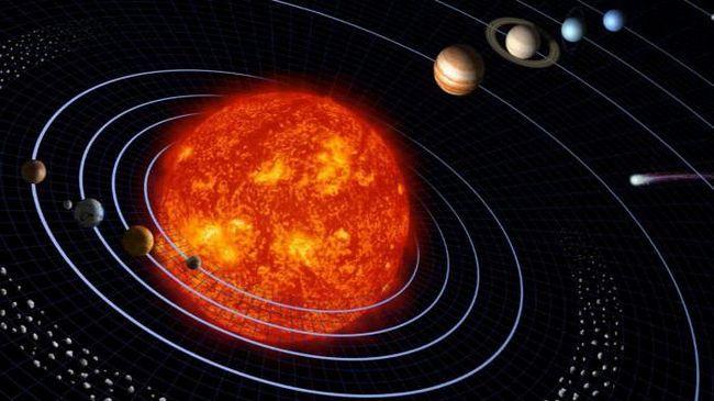 caracteristică planetelor tabelului Sistemului Solar