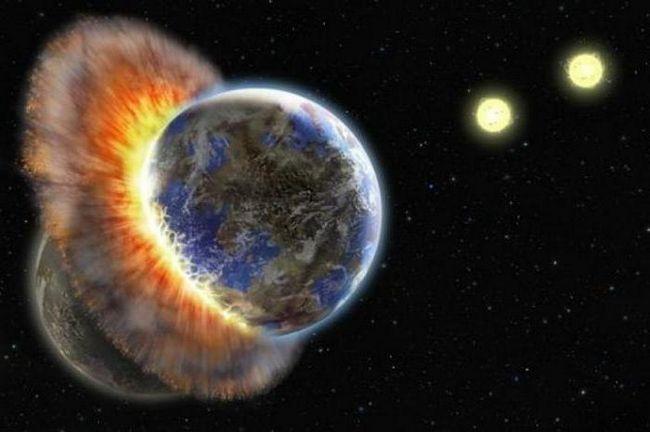 coliziunea pământului cu planeta