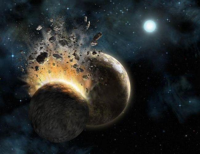 ciocnirea a două planete