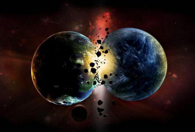 coliziunea planetei cu un asteroid