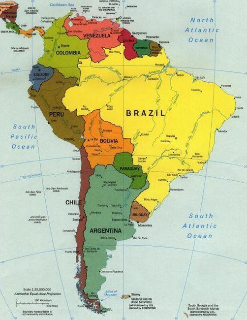 țările din lista latin americană