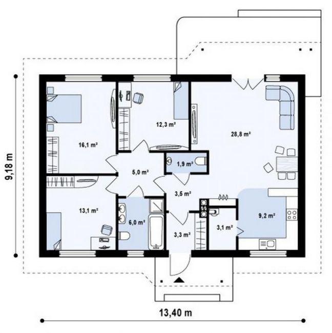 construcția caselor dintr-un bloc de gaze
