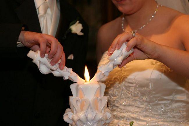 Lumanari de nunta cu mainile proprii: fotografie