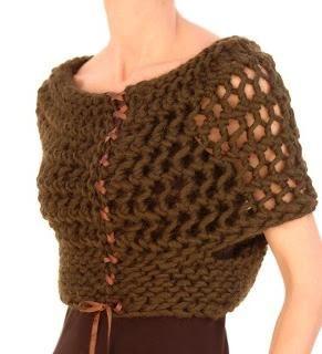 bolero pentru fete cu ace de tricotat