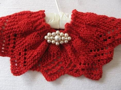 bolero cu ace de tricotat